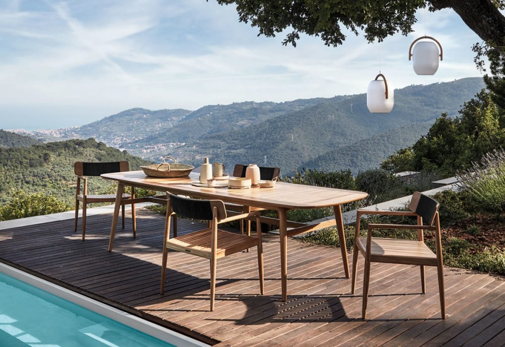 Extend living space with Solid Teak Outdoor Furniture from Gloster