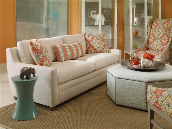Vanguard-Eclectic-Fairgrove-sofa-with-Mirage-Spot-Table-and-Orian-Ottoman-chairs