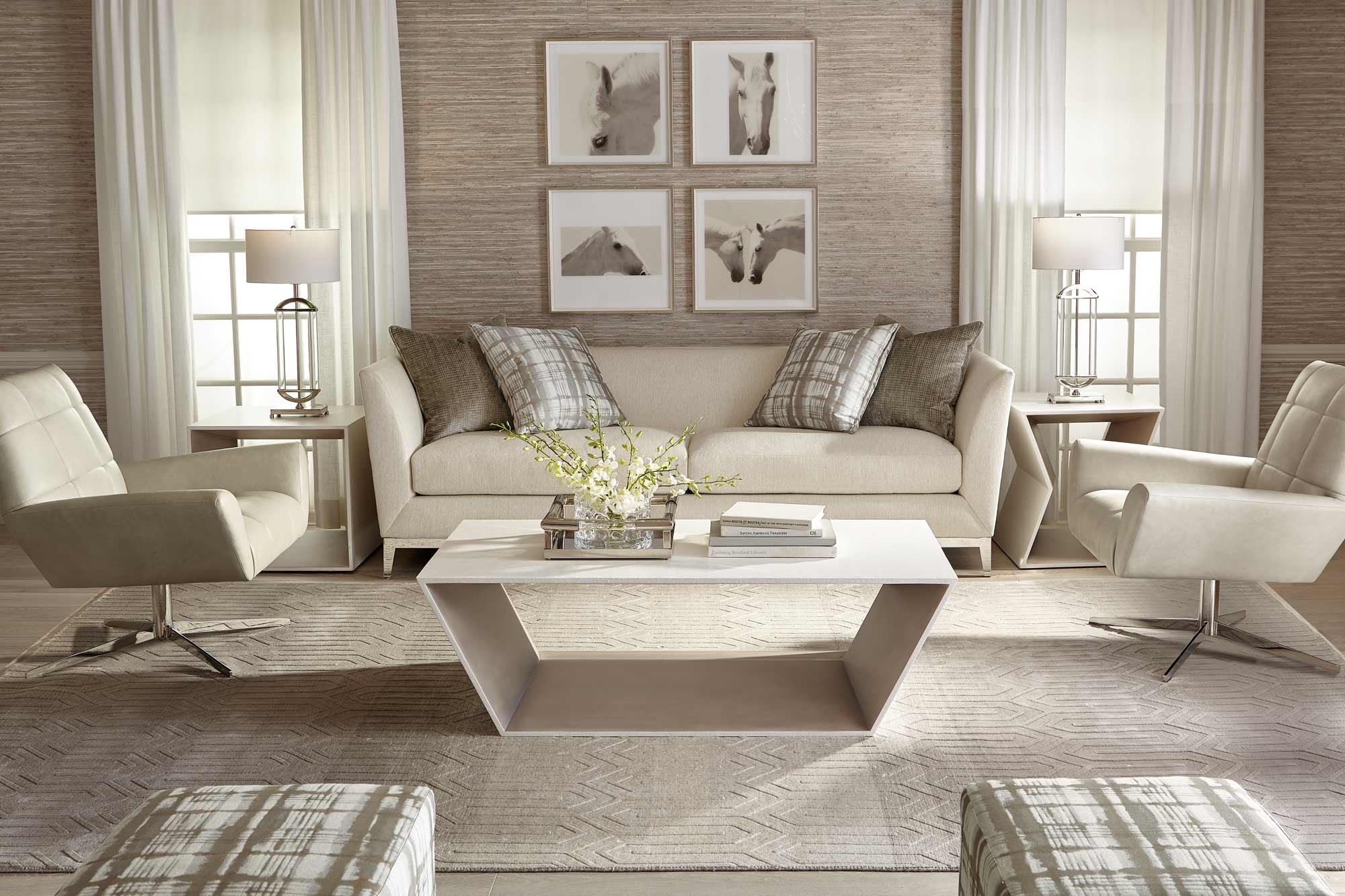 living bernhardt beck sofa and dangelo chair